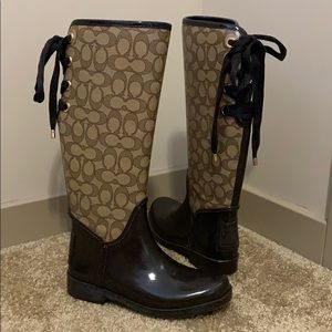 Coach Rainboots with Good Hardware